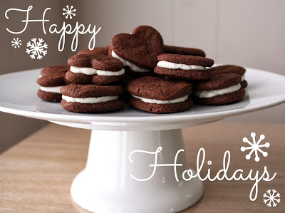 Mint Chocolate Cookie Sandwiches with Chevre Frosting