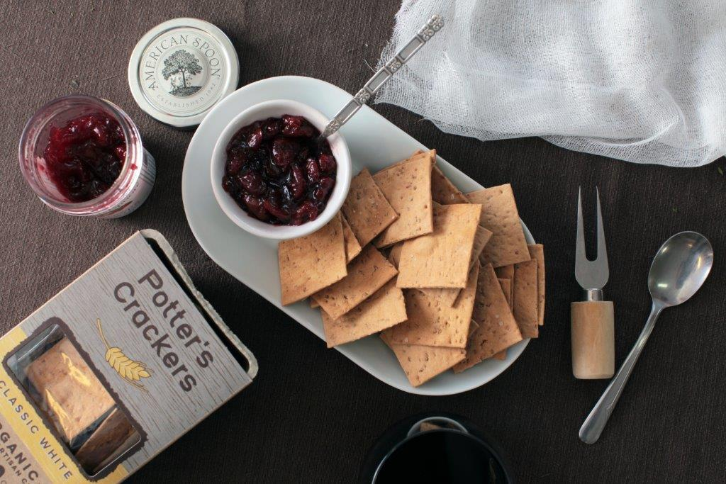 Potter's Winter Wheat Crackers & American Spoon Sour Cherry Jam - IN STORE PICKUP ONLY